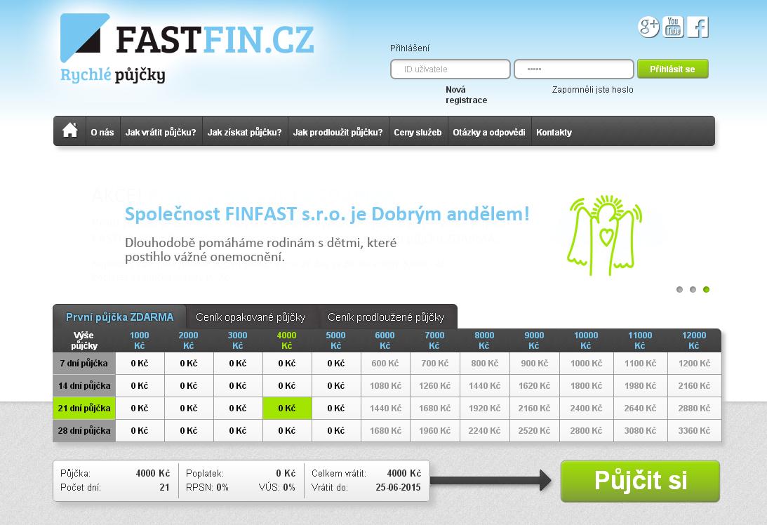 Rychlá půjčka FastFin