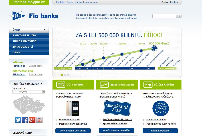 Nová a moderní Fio banka