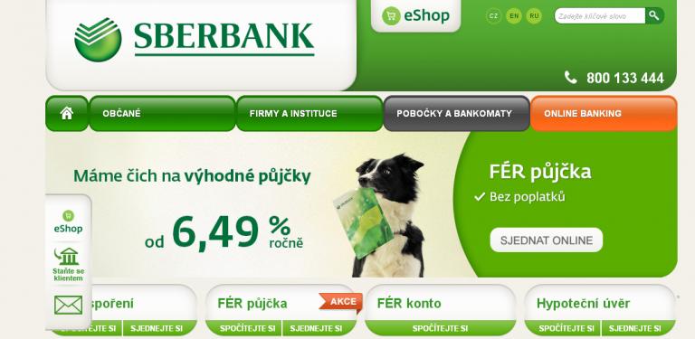 Bankovní půjčka Sberbank